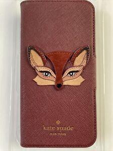 Kate Spade NY iPhone 8/7 Phone Case Fox Wrap Folio Never Used
