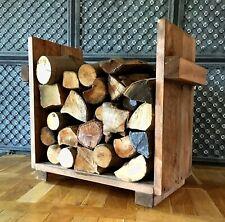 Kaminholz Regal Kaminholz Ständer Kaminholz Ablage Holz braun vintage groß