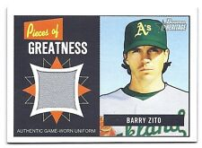Barry Zito 2005 Bowman Heritage Pieces Of Greatness Card # PG-BZ