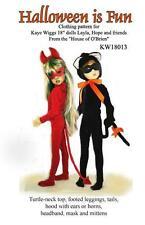 Kw18013 Halloween is Fun pattern for Kaye Wiggs, Layla, Hope & friends, Msd