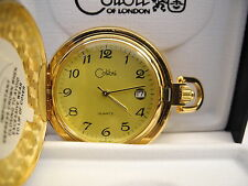 Watch Date New As-Is Reduced Colibri Gold Face Goldtone Pocket