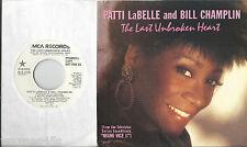 PATTI LaBELLE and BILL CHAMPLIN * 45 * 1986 USA * UNPLAYED MINT * DJ PROMO w/ PS