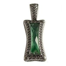 Lia Sophie TIbetan Silver Bohemian Emerald Green Crystal Pendant for Necklace