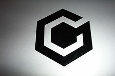 Nintendo GAMECUBE Cube Logo Vinyl Decal Sticker BLACK