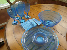 New listing Outdoor Servingware 8 pieces for food and drinks Blue plastic New