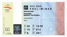Billete Orig. Juegos Olímpicos Barcelona 1992-Natación