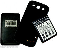 EXTENDED Battery with cover+Charger for Samsung Galaxy SIII S3 i9300 T999 i535
