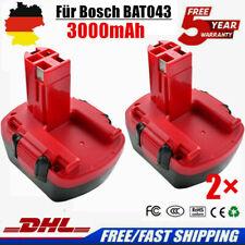 2× 12V 3000mAh Akku Batterie Für Bosch 2607335262 BAT043 BAT045 GSR  PSR 12VE-2