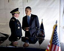 PRESIDENT BARACK OBAMA WITH GENERAL MARTIN DEMPSEY - 8X10 PHOTO (CC-082)
