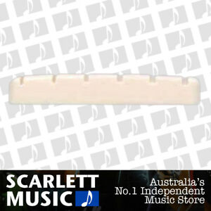 AMS Guitar Nut Slotted Saddle For Acoustic Steel Guitar 6 String 41.5mm x 7mm