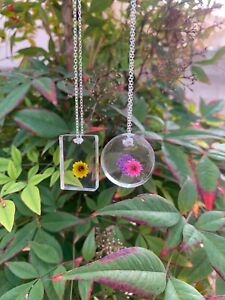Custom Keychains And Necklaces!! Any One Piece With Choice Of Color And Flower!