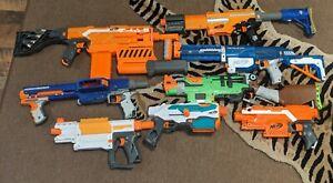 Nerf Gun Lot 8 Used Guns