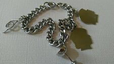 VINTAGE GERMANY CHARM BRACELET WITH FOUR CHARMS -2  OF 4 STERLING SILVER