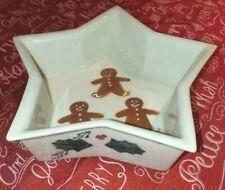 Hartstone Gingerbread Man star dish Holly Vintage Stoneware Ohio Pottery USA