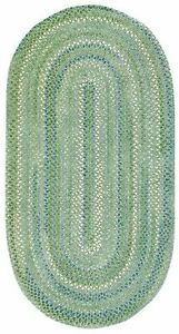 Capel Rugs Waterway Green/Blue Cotton Chenille Braided Area Rug Sea Monster #200