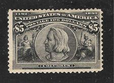 U.S. Scott 245 Columbian Exposition MNH $5.00 Black.