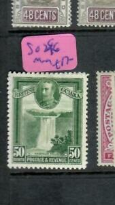 BRITISH GUIANA  (P0209B) KGV  50 C    WATERFALLS   2C  SG 296    MOG