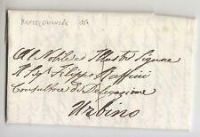 13 GIUGNO 1859 MARCHE lettera MONTECERIGNONE-URBINO+Tassa 1 BAJ-h642