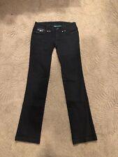 AX Armani Exchange Women Size O Black Straight Leg Jeans