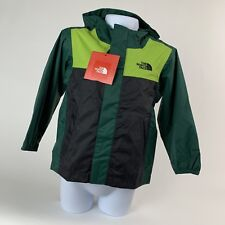 TODDLER BOYS: The North Face Quinn Rain Shell Jacket, Green & Black - Size 4T