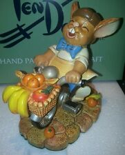 Pendelfin Bunny Rabbit Figurine Figure - Granville Riding A Bike With Fruit- New