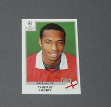 33 THIERRY HENRY ARSENAL GUNNERS PANINI FOOTBALL CHAMPIONS LEAGUE 1999-2000