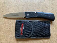 SCHRADE SUPER SHARP SP3 FIRST PRODUCTION RUN BLACK FOLDING POCKET KNIFE