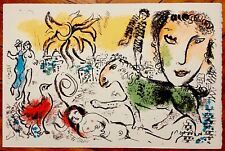 Marc Chagall Lithographie originale sur velin d'Arches 1973 Chagall Monumental