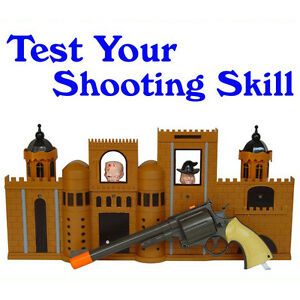 Kids Children Shooting Gun Toys Virtual Infrared Beam Shooting Set Devil' Castle