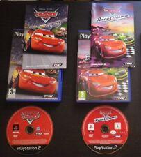 LOT 2 JEUX PS2 Disney Pixar CARS QUATRE ROUES + RACE-O-RAMA complet, envoi suivi