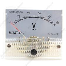 1 Ac50v Analog Panel Volt Voltage Meter Voltmeter Gauge 85l1 Ac0 50v