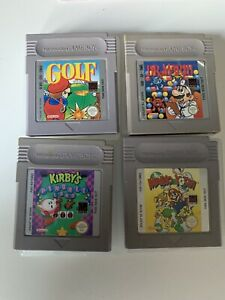 Original Nintendo Gameboy Games Bundle Golf Dr Mario Kirby Mario And Yoshi