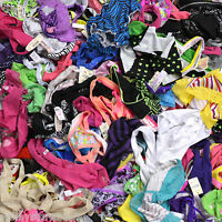 NEW Lot 10 Lace Sheer Sexy Thongs Panties G-String Tanga Lingerie Underwear OS