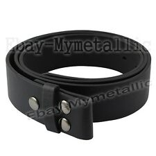 """ONE Buckle Removeable Multi 120cm / 48"""" Length Black PU Leather Strap Belt"""