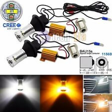 No Hyper Flash Bau15s 1156B Switchback CREE LED Turn Signal Lights or DRL Bulbs
