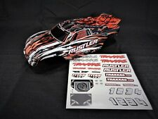 New Traxxas Rustler Painted Orange Black White Body Shell Lid and Decal XL-5 VXL