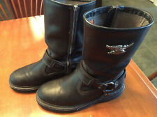 Harley Davidson Biker Boots BLACK STRATUS #95143 Size Men's 10 Medium AWESOME