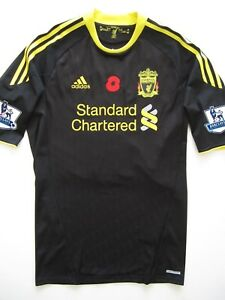 Liverpool 2010-11 Gerrard Adidas Player Issue Rememberance Day Poppy Jersey