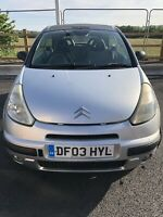 Citroen C3 Pluriel 1.4 petrol 2003 Convertible Breaking Spares Parts Available