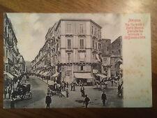 Cartolina Sicilia Messina prima del Il terremoto del 1908 via Garibaldi  9/12/15