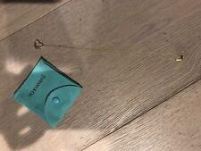 "Tiffany & Co Elsa Peretti 18K Gold Open Heart Pendant 15MM Necklace 16"" EUC"