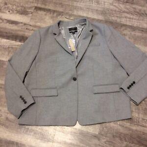 J Crew Regent Heather Gray Blazer Suit Jacket Coat 24 NWT