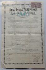 The New India Assurance Co. 1934 Life Insurance Policy