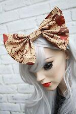 Gran arco de pelo-marrón Africano étnicas Clip Indie Grunge Rockabilly 50 Moda