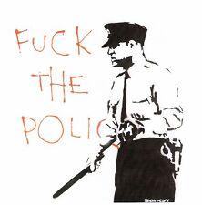 Banksy - Police (2000). Ed. 300 uds Firma impresa. Num. a lapiz. Certif. Edicion