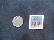 NEW! Square Intel Core 10th Gen i9 Sticker Label Case Badge Logo. USA Seller!