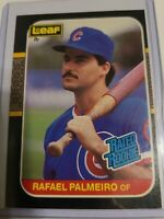 1987 Leaf Rafael Palmeiro RC Cubs Orioles Rated Rookie Donruss