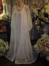 Angelic ~ Vtg INTIME Nightgown & Peignoir Set Double Chiffon ~ Sz S