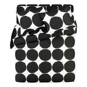 Crate & and Barrel MARIMEKKO KIVET TWIN XL TWIN SHEET SET- NEW- NIP- Black/White