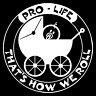 Pro-Life That's How We Roll Anti Abortion Car Truck Window Vinyl Decal Sticker.